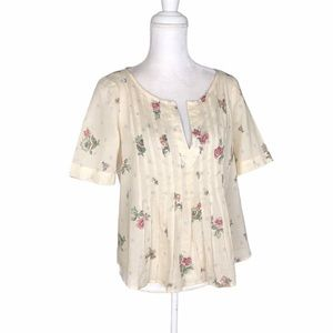 Anthropologie Maeve floral print blouse top 4